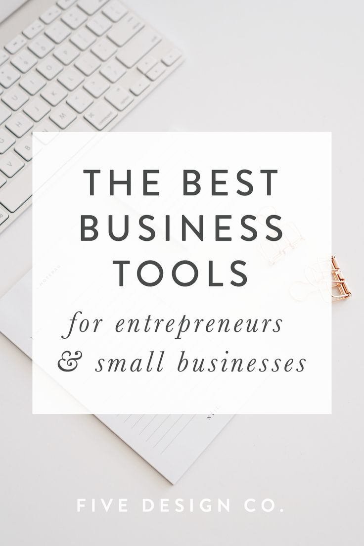 The best business tools for entrepreneurs & small businesses // Our favorite (tried and true!) business tools for small businesses, bloggers, freelancers and entrepreneurs. Use these tools to boost productivity, sales, marketing and enhance website and product design. // Web design & business tips at fivedesign.co #businesstips #productivity #entrepreneur #blogger #freelancer #smallbusiness