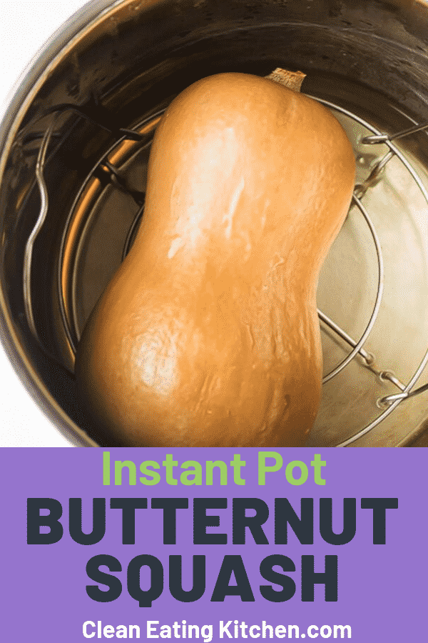 Instant Pot Whole Butternut Squash #easythingstocook