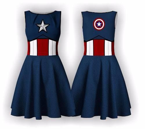 vestido capitão américa vingadores halloween avengers heróis Fantasia  Capitão América Feminina 054980526de
