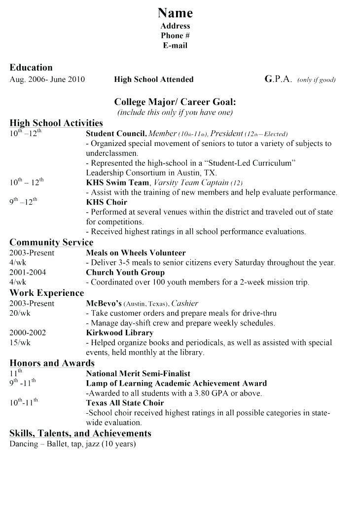 Resume Examples High School Pinterest Resume examples, High - resume name examples