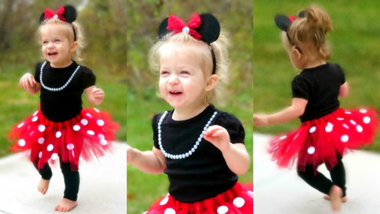 DIY Minnie Mouse Costume for Toddlers | Lacey's Halloween Outfit!! #toddlerhalloween