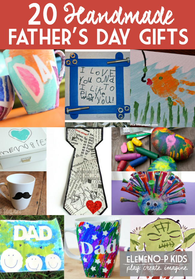 20 Handmade Father's Day Gifts From Kids eLeMeNOP Kids
