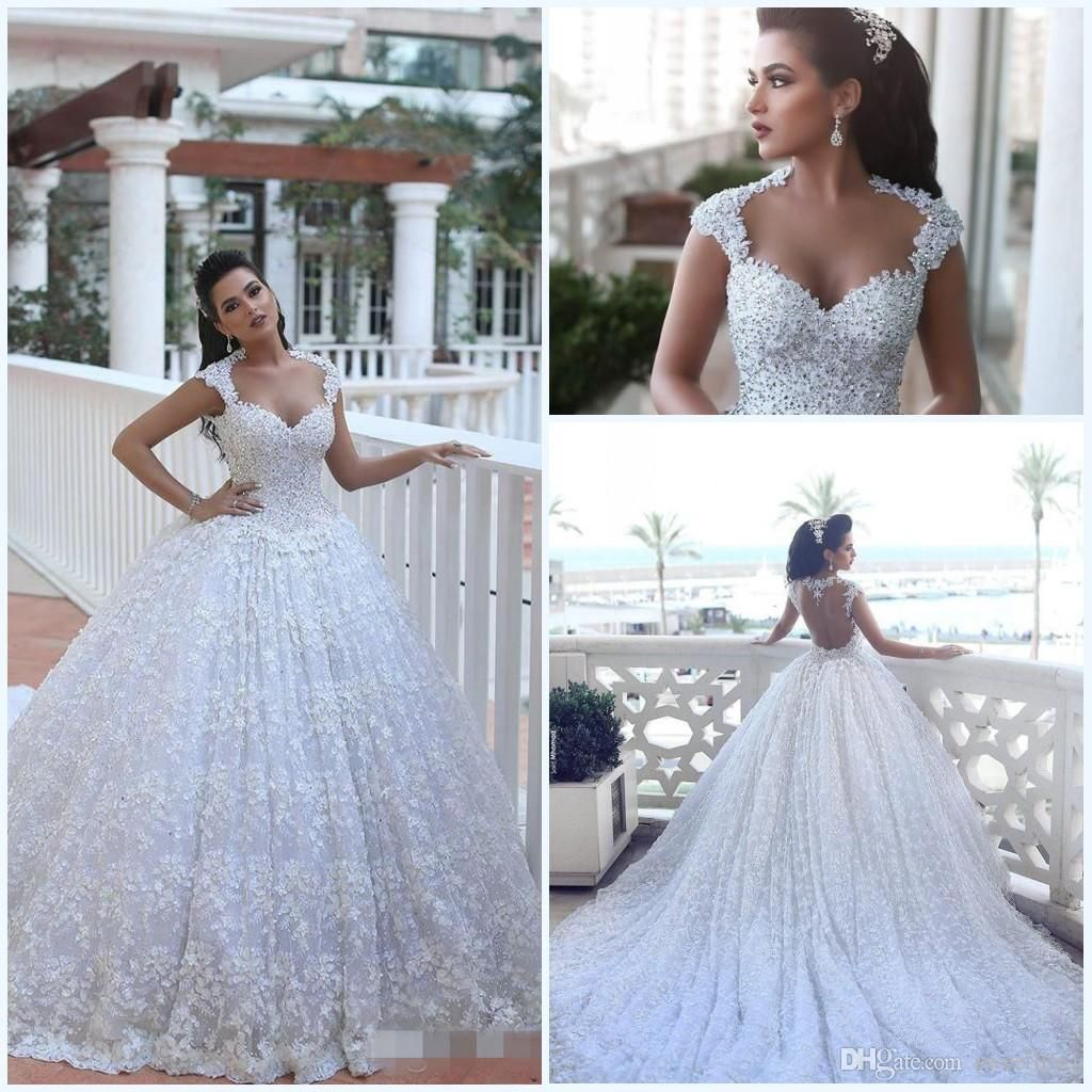 2016 Said Mhamad Wedding Dresses With Long Sleeves Ball