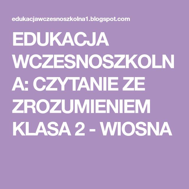 Pin Na Edukacja Wczesnoszkolna