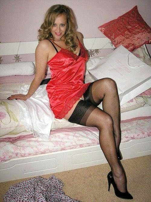 sleeping in nylon stocking and pantyhose