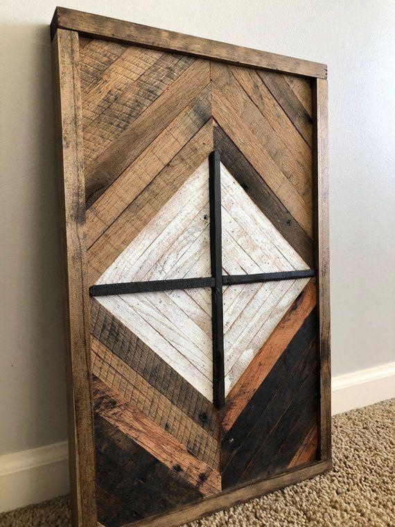 Geometric Chevron Wood Wall Art Decor Products Wood Wall Art