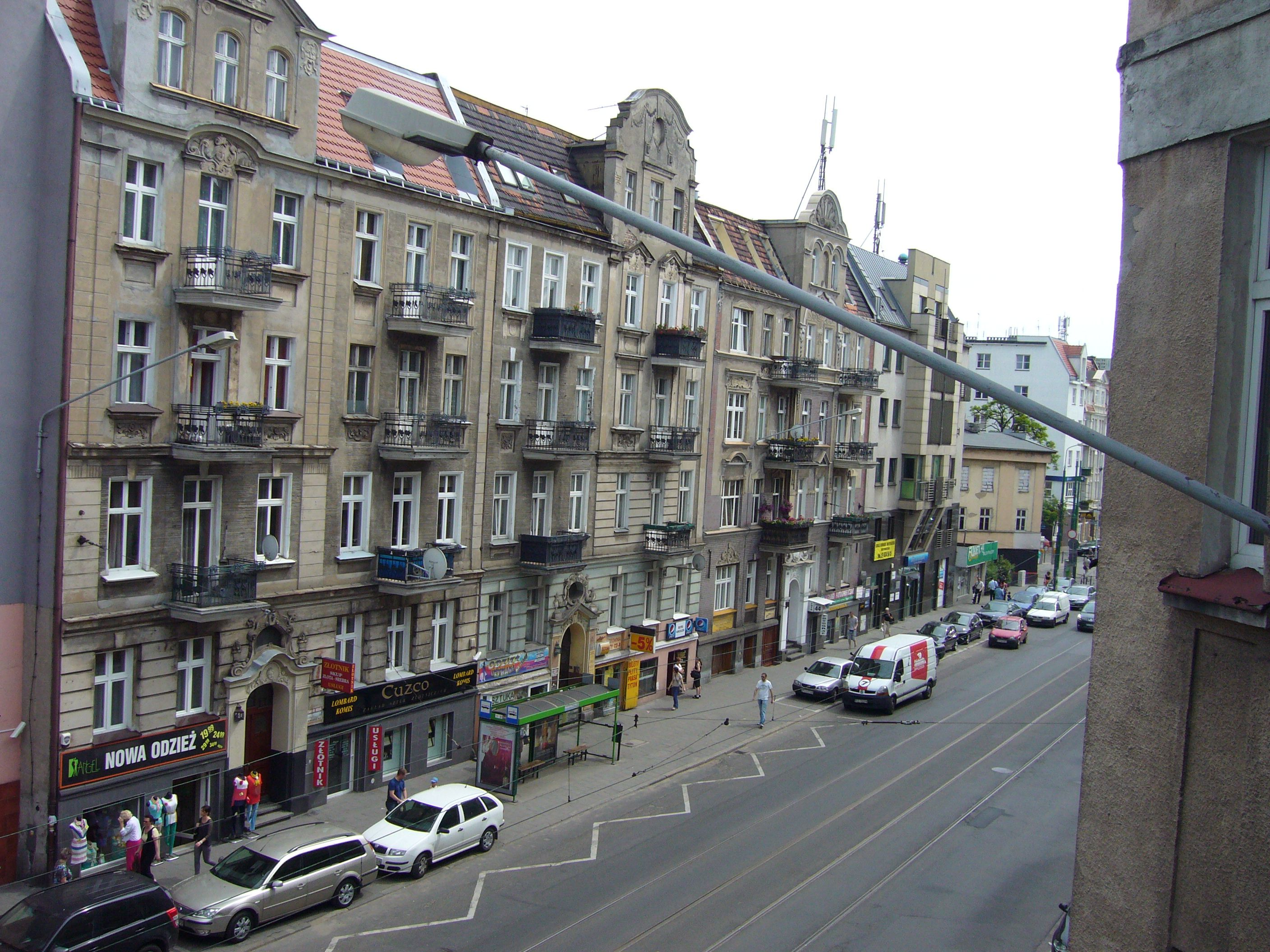 Poznan, Poland - I live in a hundred year old part of the city, crowded and noisy ... this is what I see from my front windows