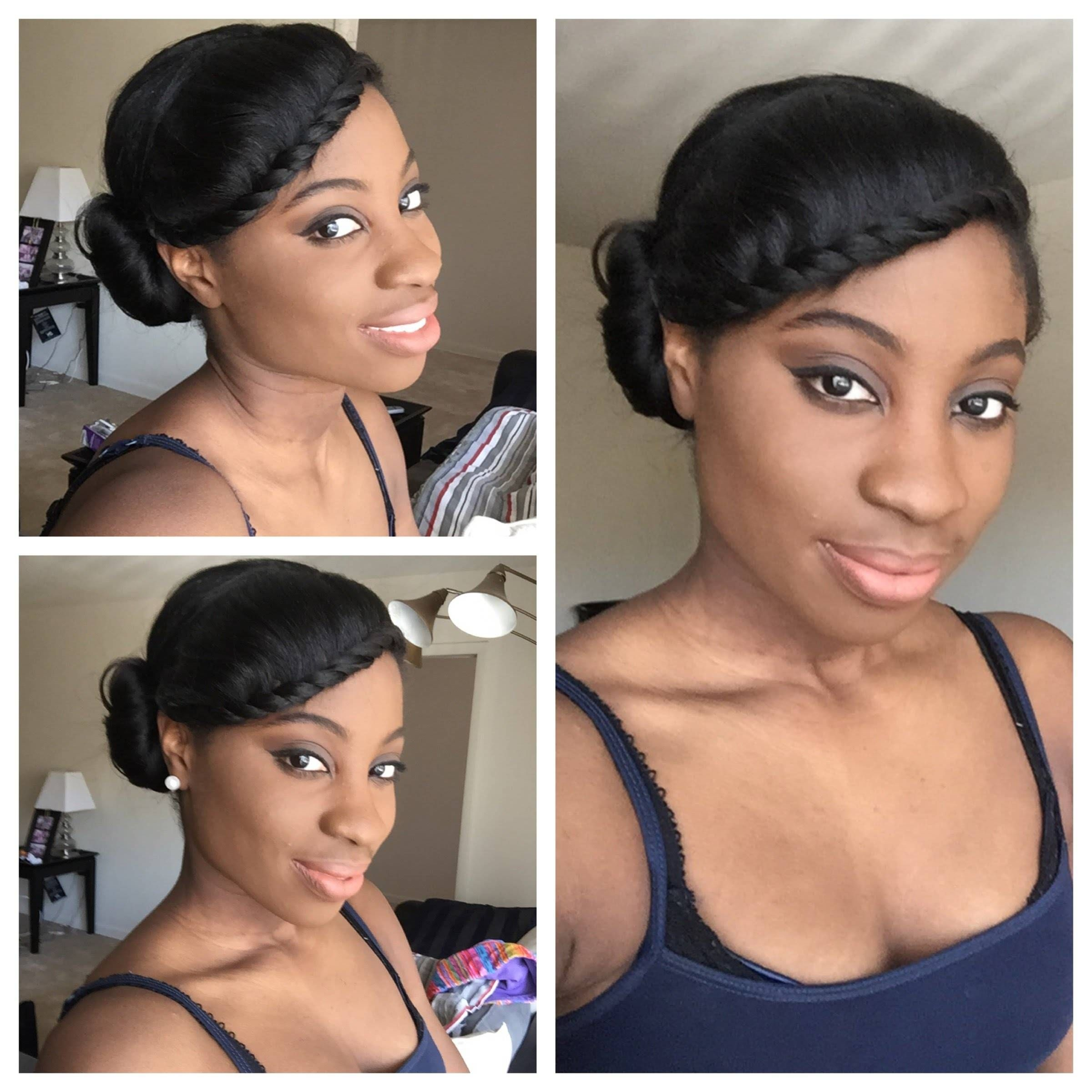 Simple Protective Style Relaxed Hair Youtube Short Relaxed Hairstyles Natural Hair Styles Hair Videos