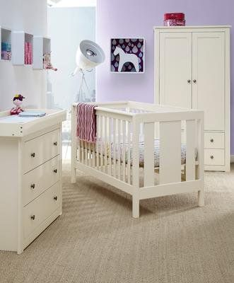 mamas papas chamberlain 3 piece set antique white nursery