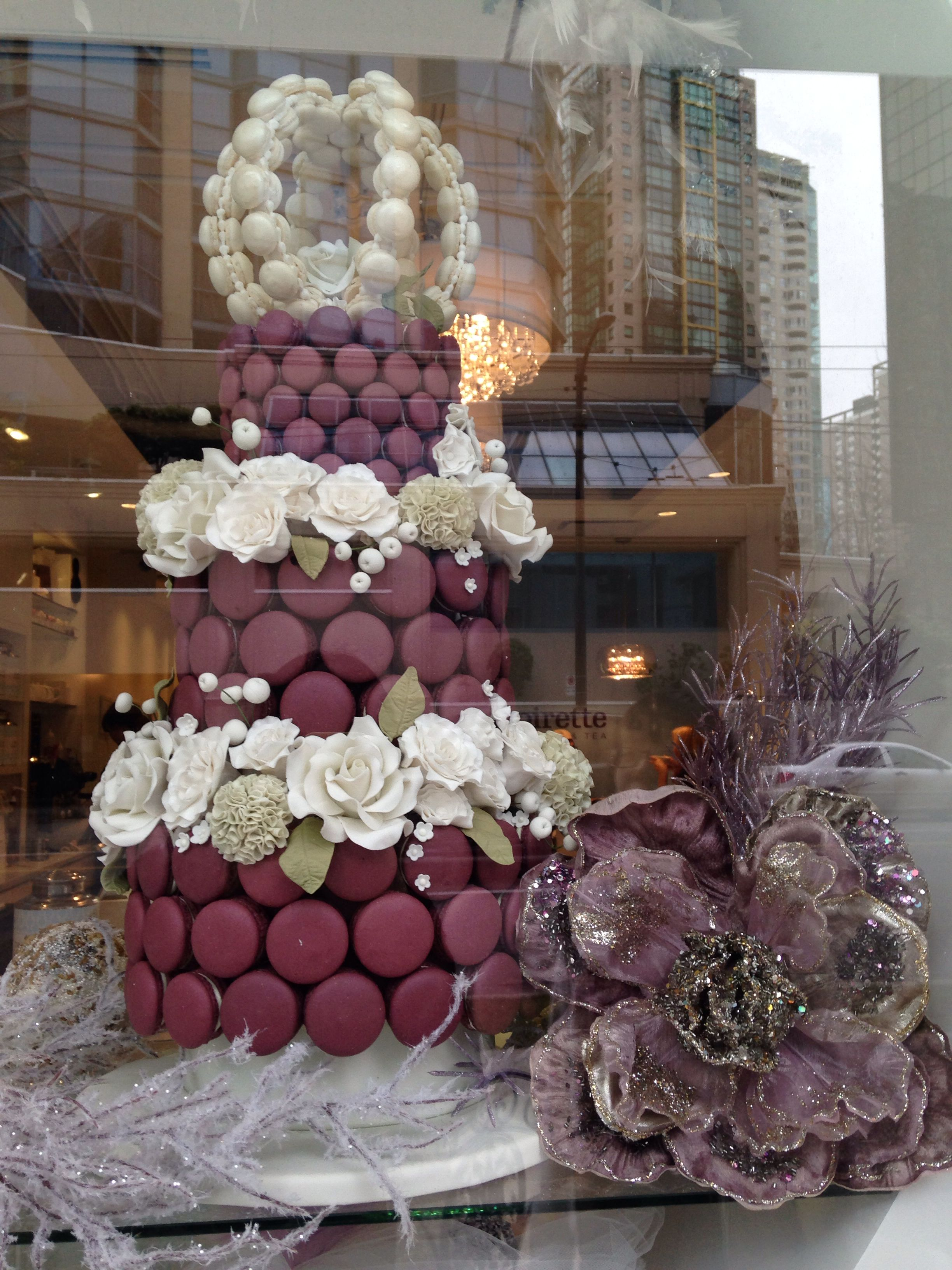 The Soirette #downtown Vancouver #west Pender St. #xmas #macaron tree