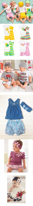 2016 Fashion Newborn Baby Girl Clothes Summer Cotton Baby Boy Clothing New Unisex Infant Sets 3Pcs(Romper+Hat+Pants)