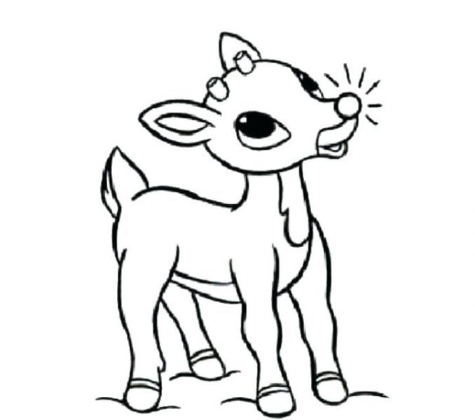 Rudolph the red nosed reindeer coloring pages on coloring book ...