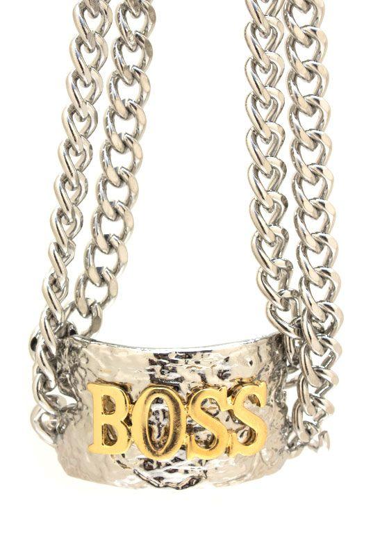 textured boss chain choker $20.80