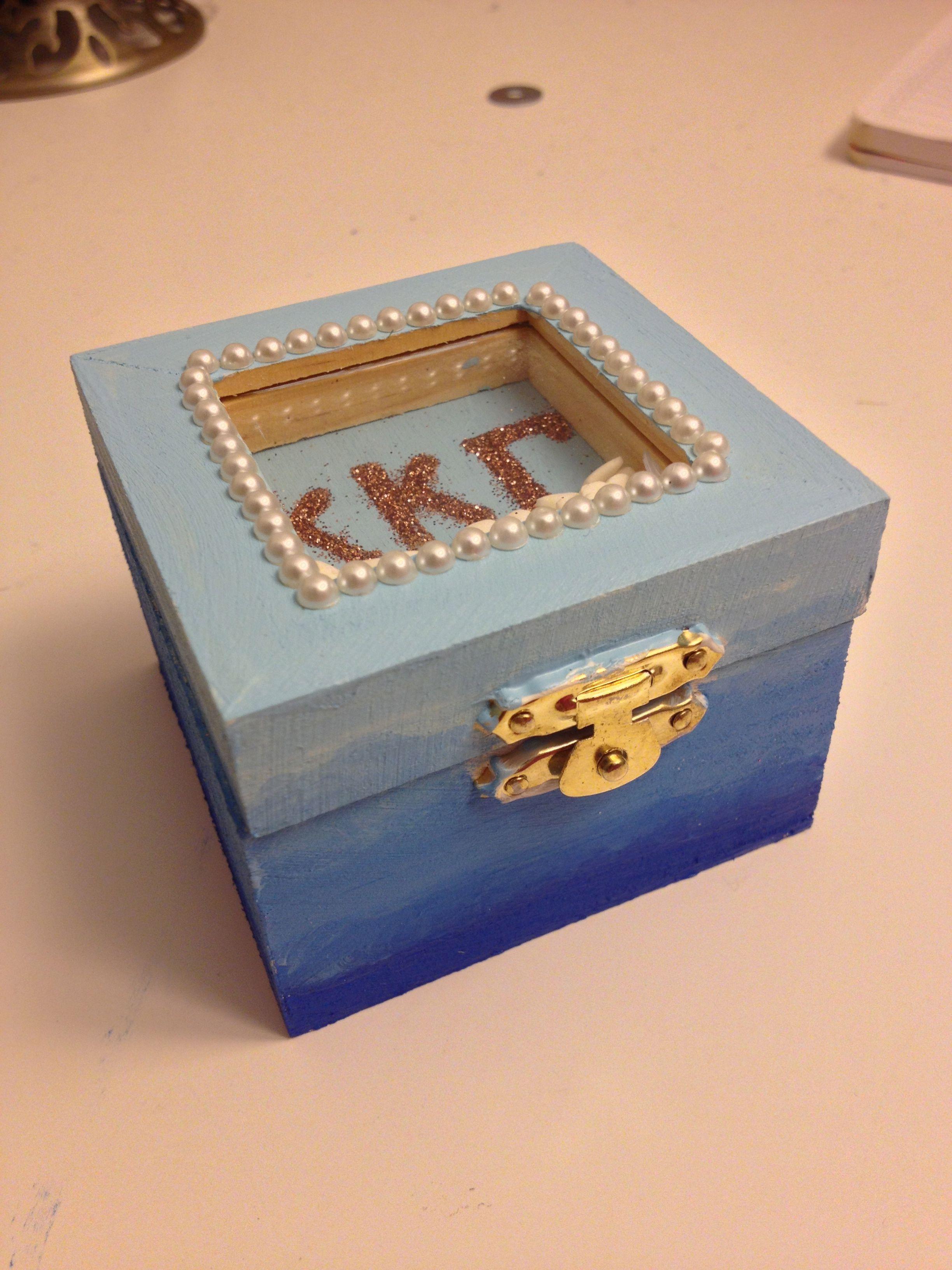 Theta Phi Alpha Round Metal Letter Pin Box