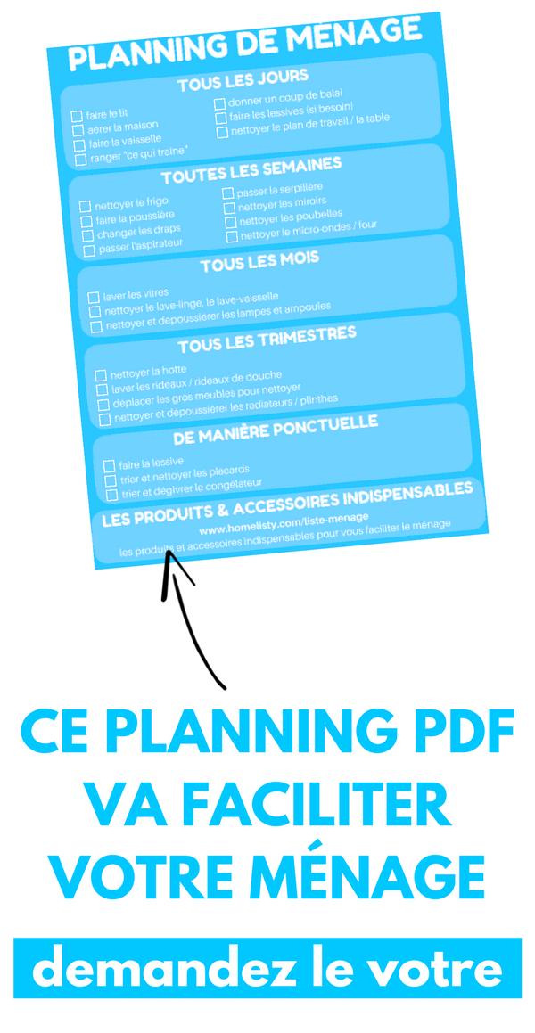 Telechargement Gratuit Planning De Menage Pour La Maison Planning Menage Menage Planning