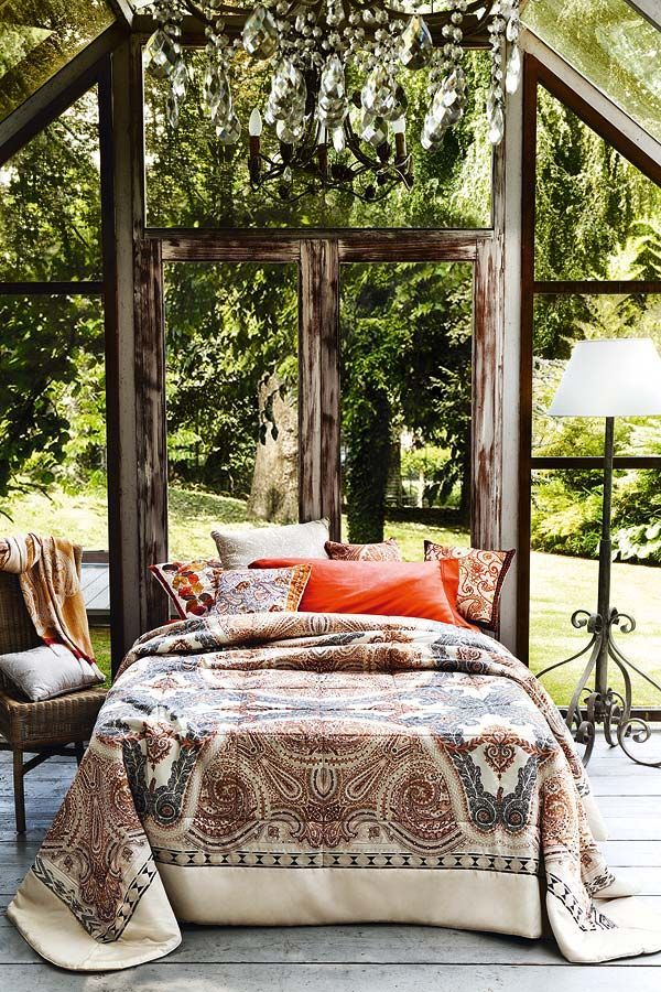 "Outside Beds interior design love the bed ""almost"" outdoors, bring the outside"