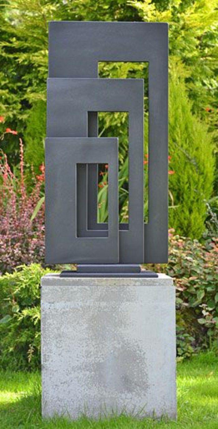 Sculpture dans le jardin plus de 90 photos pour vous jardin esculturas de metal - Sculpture moderne pour jardin ...