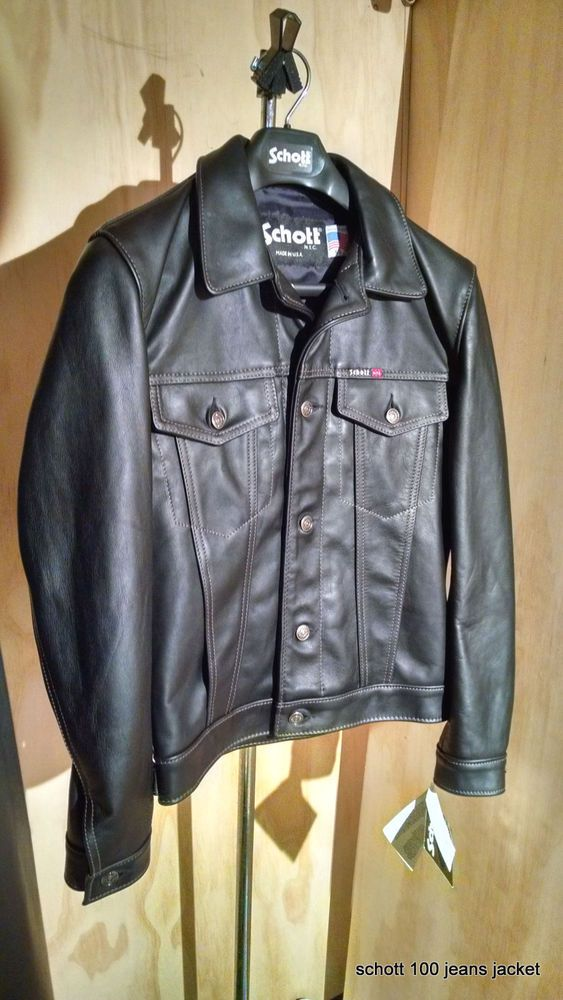 68962926d09 NEW Schott Nyc Trucker LEATHER Jacket RARE  100 MADE IN USA NEW WITH TAGS  NWT  SCHOTTNYC  BIKERTRUCKERCLASSICRELAXJEANLOOKINLEATHER