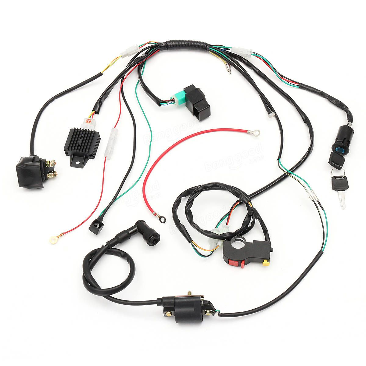 50cc Atv Wiring Harness Layout Diagrams Baja Diagram Us 28 96 Loom Solenoid Coil Rectifier Cdi For Rh Pinterest Com Chinese