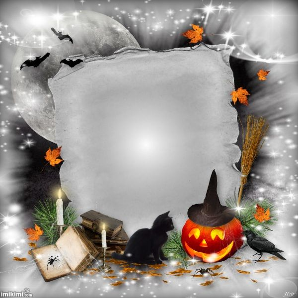 Halloween frame. You can add your own Halloween photo's in this ...