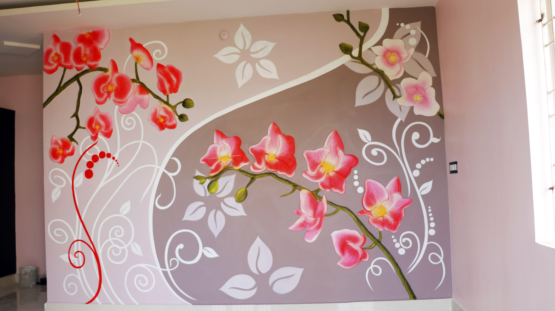 Wall Putty Design Kaise Kare Diy Wall Painting Wall Painting Wall Murals