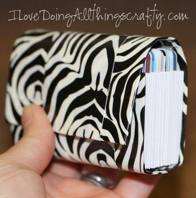 Diy Credit Card Wallet Holder For All Loyalty Credit Cards Duct Tape Diy Duck Tape Crafts Tape Crafts