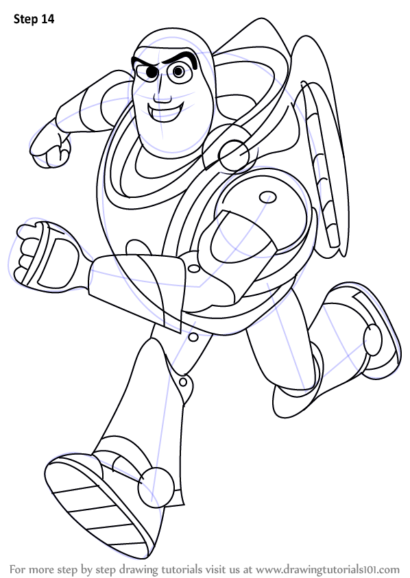 Step by Step How to Draw Buzz Lightyear from Toy Story ...