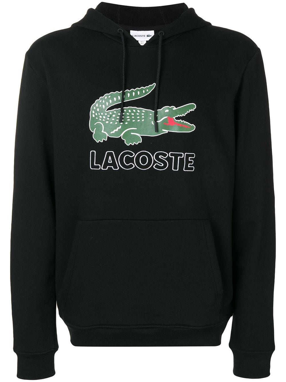 5a494f40 LACOSTE LACOSTE LOGO PRINT HOODIE - BLACK. #lacoste #cloth | Lacoste ...