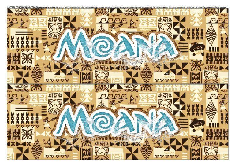 Faixa Lateral De Bolo Da Moana Para Imprimir Gratis Diy Labels