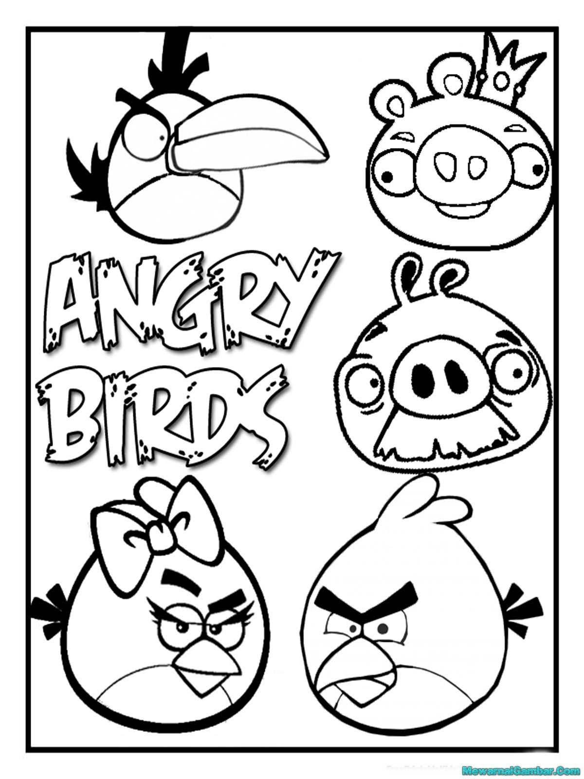 Mewarnai Gambar Angry Bird