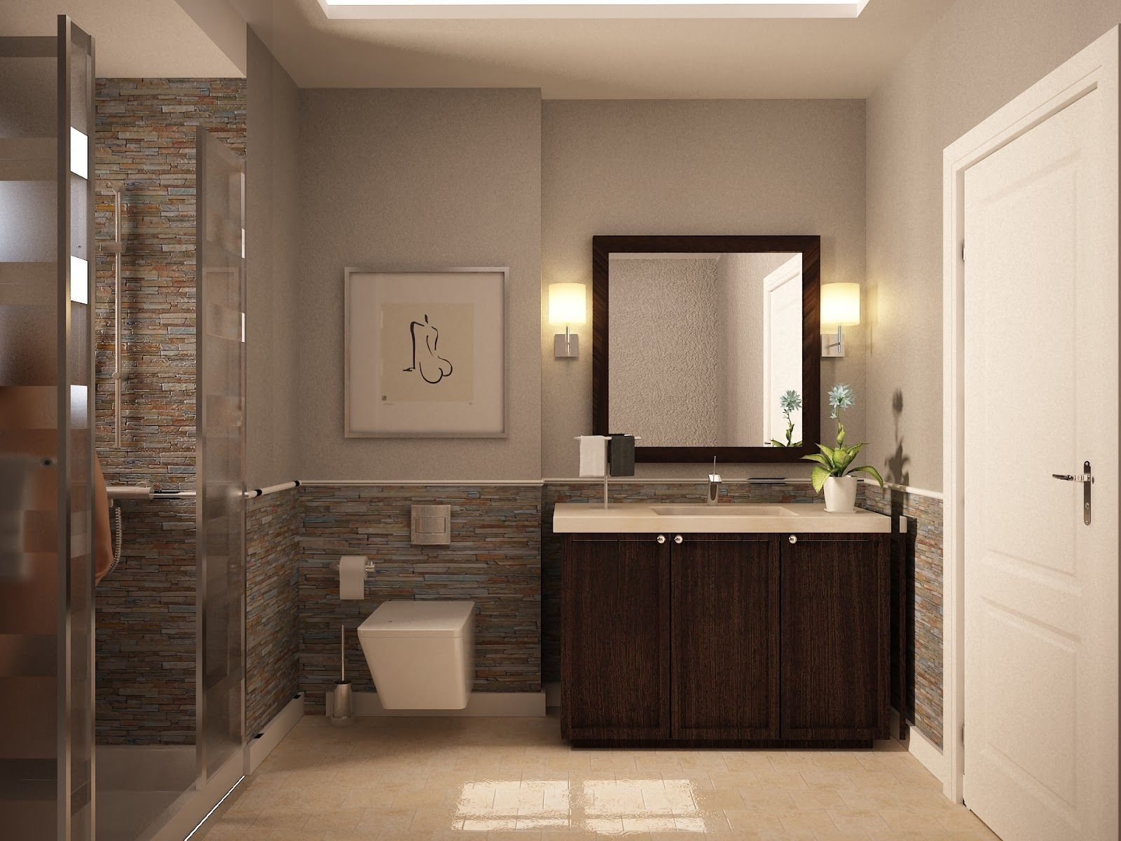 Bathroom Tile Color Combinations Badkamer Ontwerpen Kleine Verf Kleuren