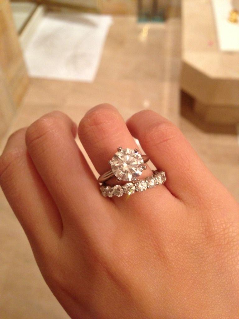3 Carat Round Black Diamond Engagement Ring