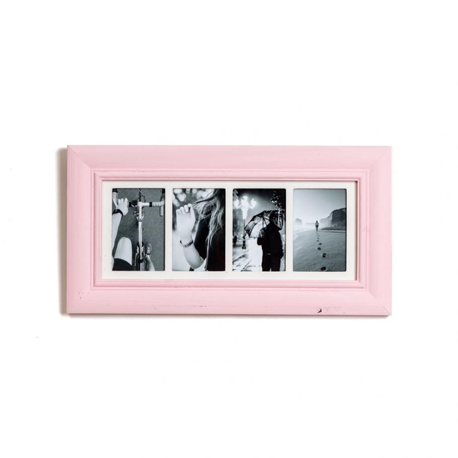Four Aperture Rose Pink Multi Photo Frame. Measurements: 55cm x 29cm ...