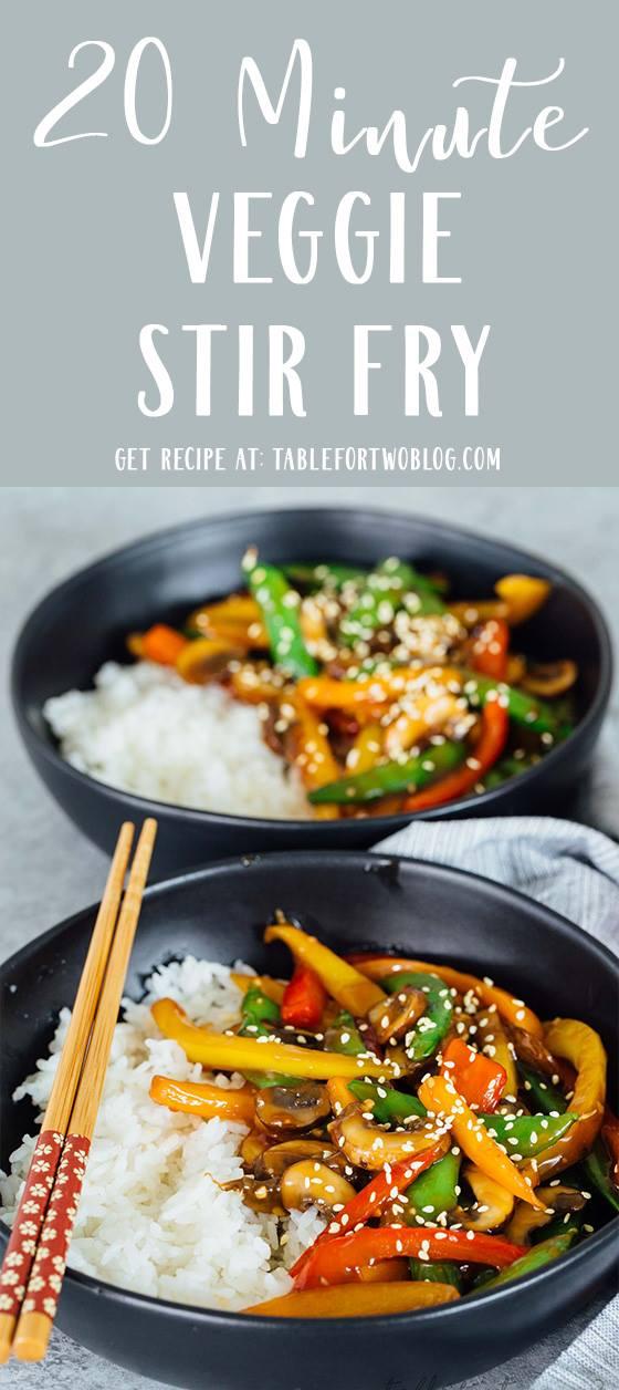 20-Minute Vegetable Stir Fry - Quick Vegetable Dinner Stir Fry