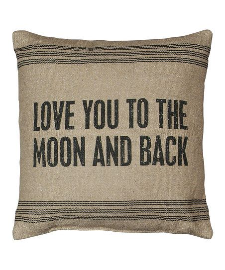 Add a loving touch to a couch with this accent pillow that features a heartwarming message and a design that will complement existing décor.