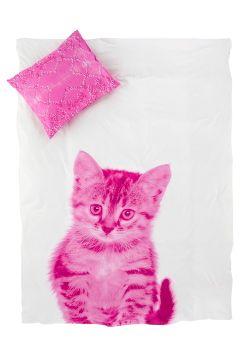 Ellos Home Roosa Kitty-pussilakanasetti