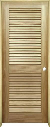 prehung louvered doors on Mastercraft 30 W X 80 H Ready To Finish Pine Veneered Stile And Rail Full Louvered Solid Cor Prehung Interior Doors Doors Interior Solid Core Interior Doors
