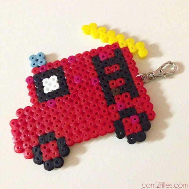 activité enfant : des portes-clés home made | perler beads and beads
