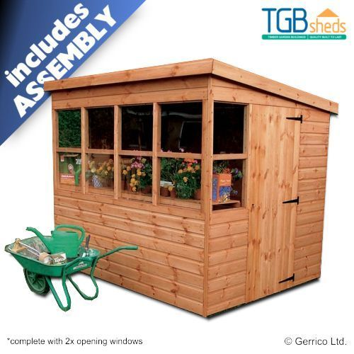 Tgb Sunflower Pent Potting Shed Free Delivery