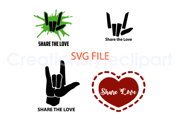 Share The Love Svg Graphic By Creationstyleclipart Creative Fabrica Svg Free Svg File Free