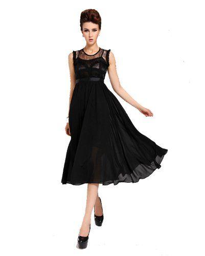 Kawen Women's Sexy Lace Chiffon Elegant Long Maxi Ruffle Evening Cocktail Party Dress (S, Black) KaWen,http://www.amazon.com/dp/B00ION8GJW/ref=cm_sw_r_pi_dp_dIbztb06E6XNPR1S