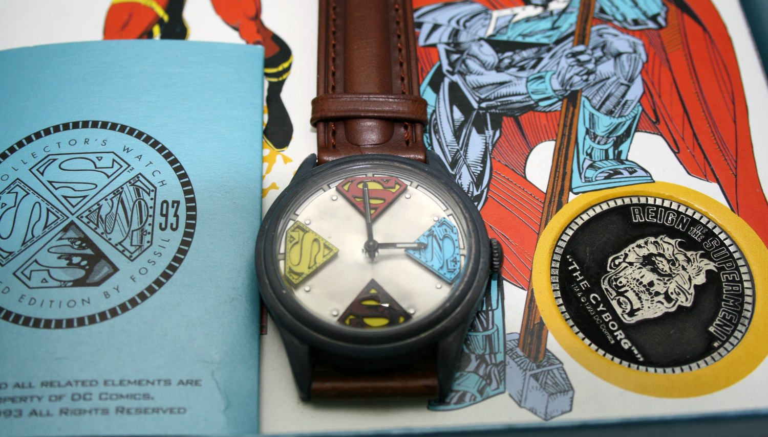 Superman Watch Fossil The Reign of Supermen Limited Edition W ...