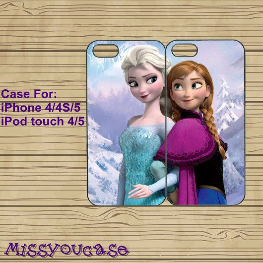 iphone 5S case,iphone 5C case,iphone 5S cases,cute iphone 5S case,cool iphone 5S case--Frozen,Elsa,Anna,best friends,in plastic. by Missyoucase, $28.95