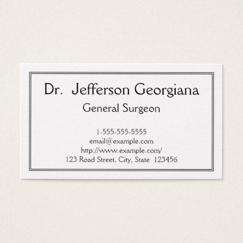 Basic General Surgeon Business Card Zazzle Com Business Cards Cards Quality Cards