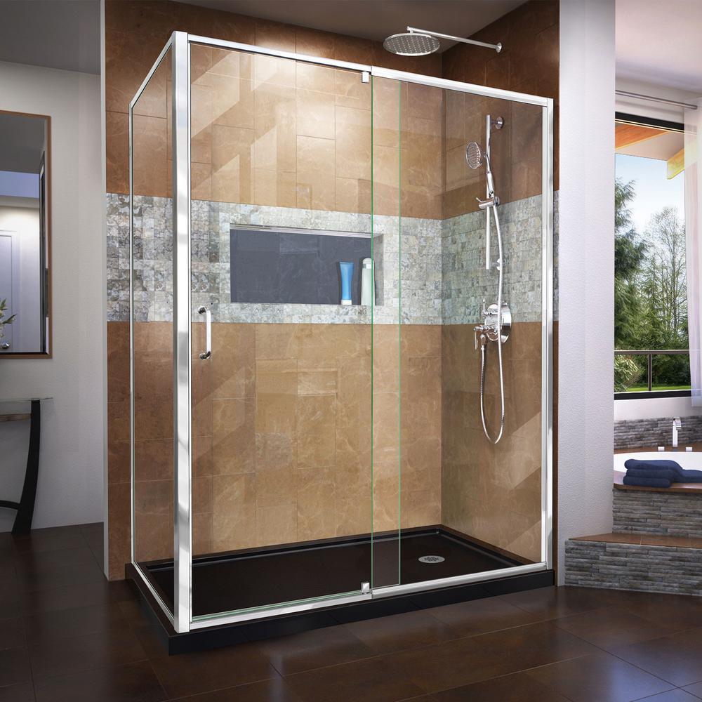 Dreamline Flex 60 In W X 36 In D X 74 75 In Framed Pivot Shower