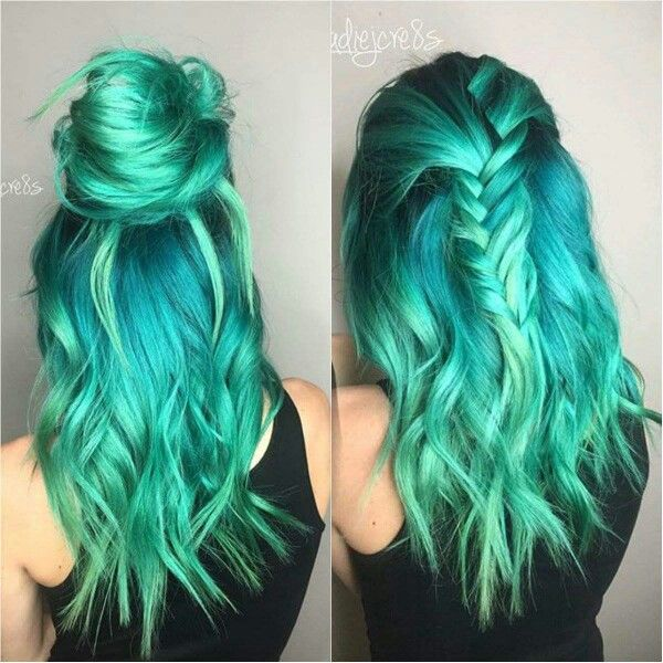 pastel tealhair and feshfenhair image hair color