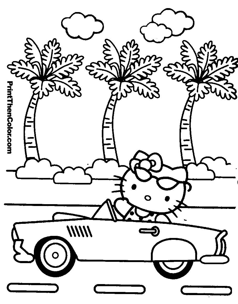 Elegant Hello Kitty Coloring Pages