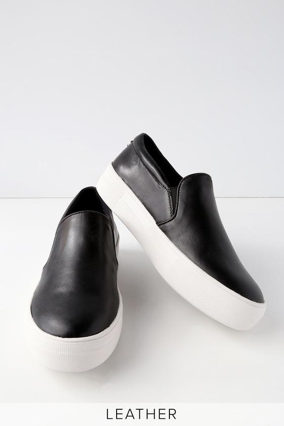 Gills Black Leather Flatform Sneakers