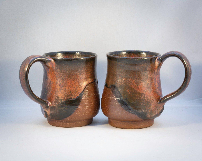 Handmade pottery coffee mug set pottery mugs set
