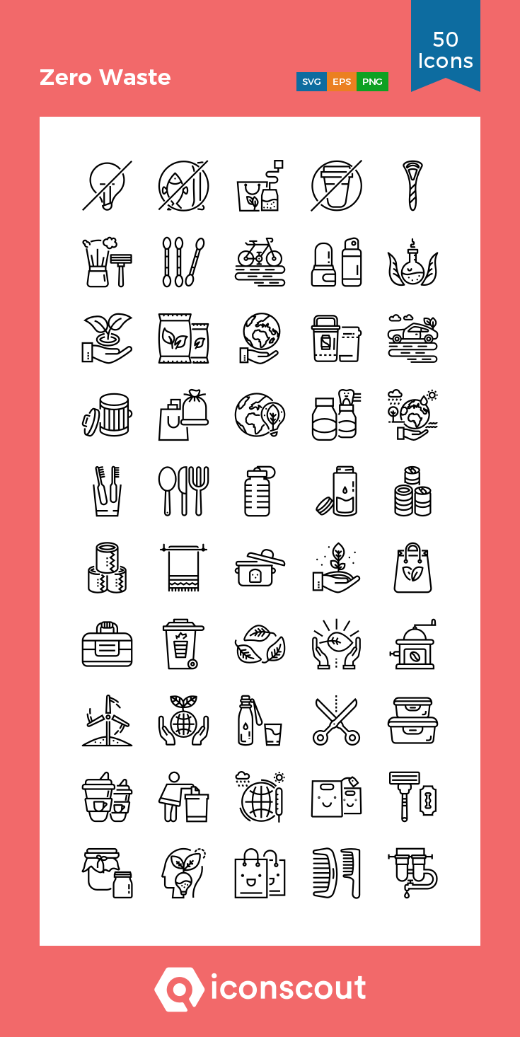 Download Zero Waste Icon Pack Available In Svg Png Eps Ai Icon Fonts Zero Waste Icon Icon Pack